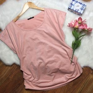 Papermoon stitch fix velvet pink top
